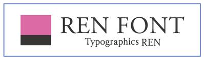 REN FONT / タイポグラフィクス蓮