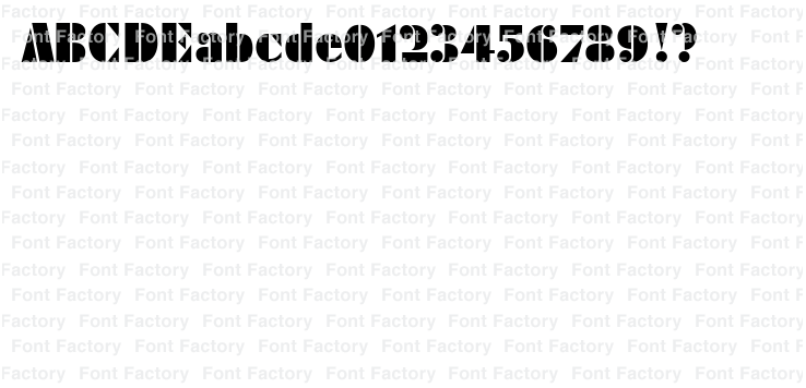 Futura Black Stencil Standard (d)   和文・欧文・デザイン書体