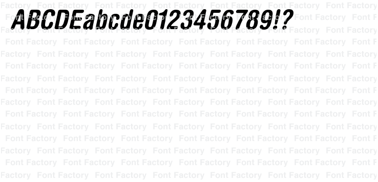 Helvetica(R) Pro Rounded Bold Condensed Oblique | 和文・欧文